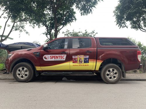 Dán quảng cáo trên xe ô tô mẫu 0909