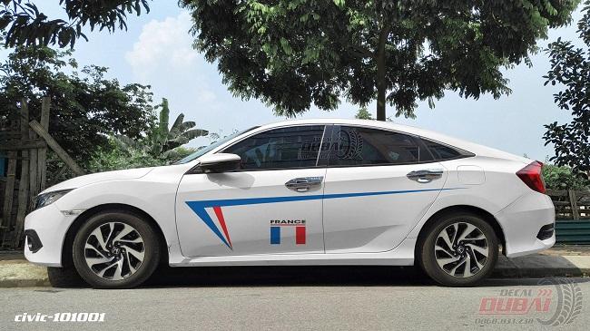 Decal tem xe ô tô 018 Giá 350k