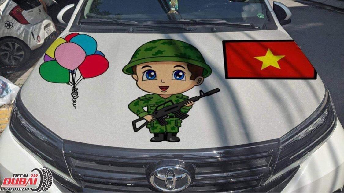 tem xe anime dễ thương Việt Nam