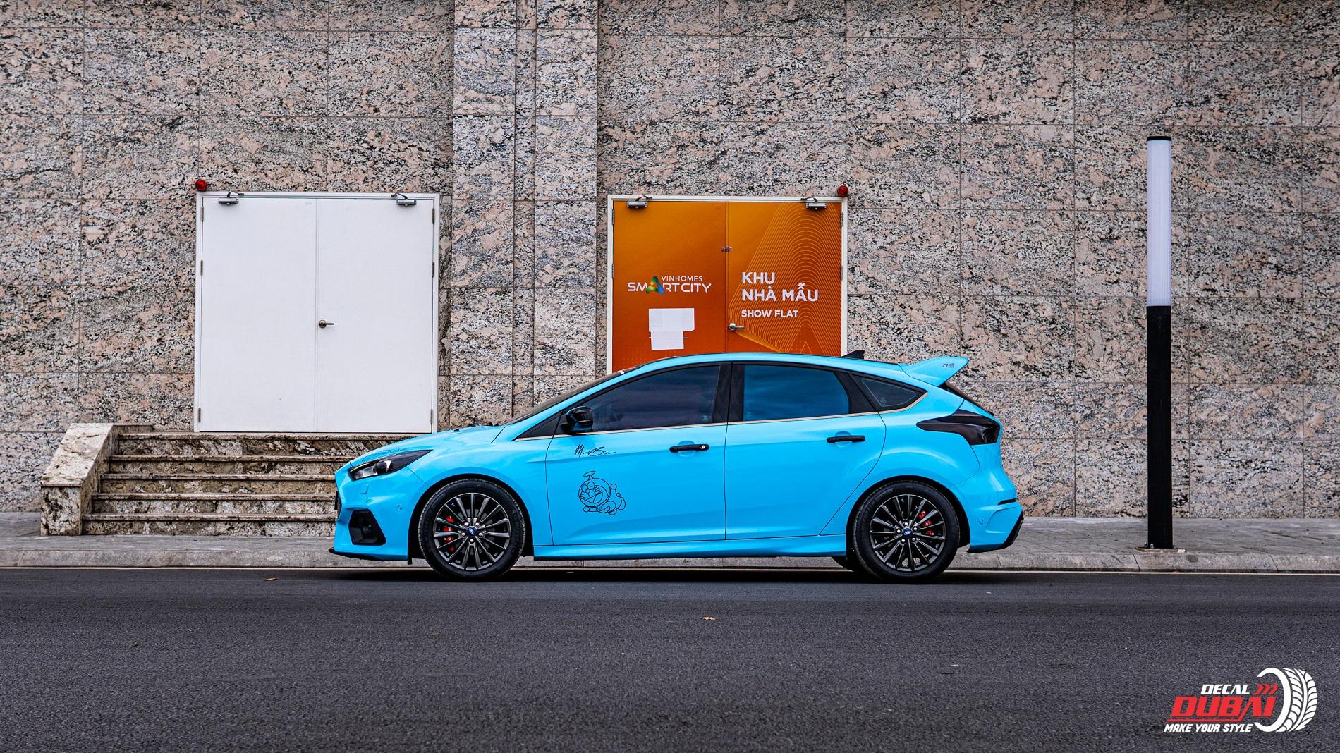 Dán đổi màu xe Ford Focus Xanh G5007 -1