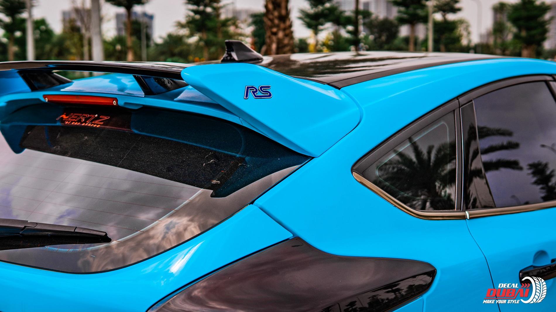 Dán đổi màu xe Ford Focus Xanh G5007 -3