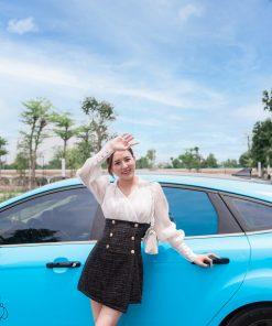 Dán đổi màu xe Ford Focus Xanh G5007 -4