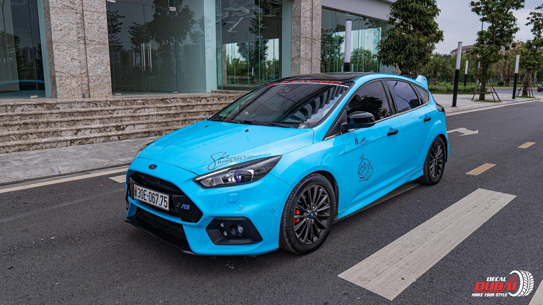 Dán đổi màu xe Ford Focus Xanh G5007
