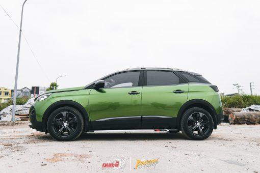 Dán đổi màu xe Peugeot 5008 Xanh