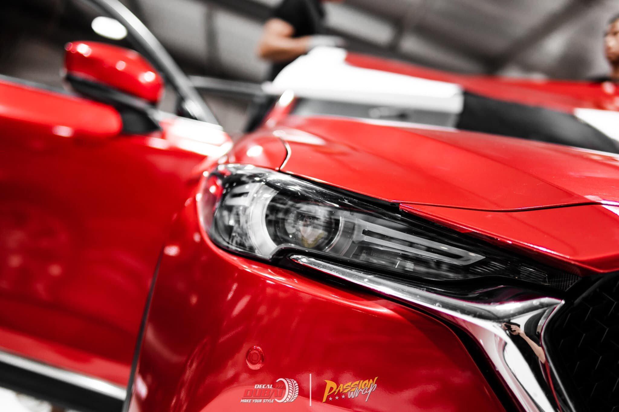 dán đổi màu xe mazda CX 5 Đỏ 1