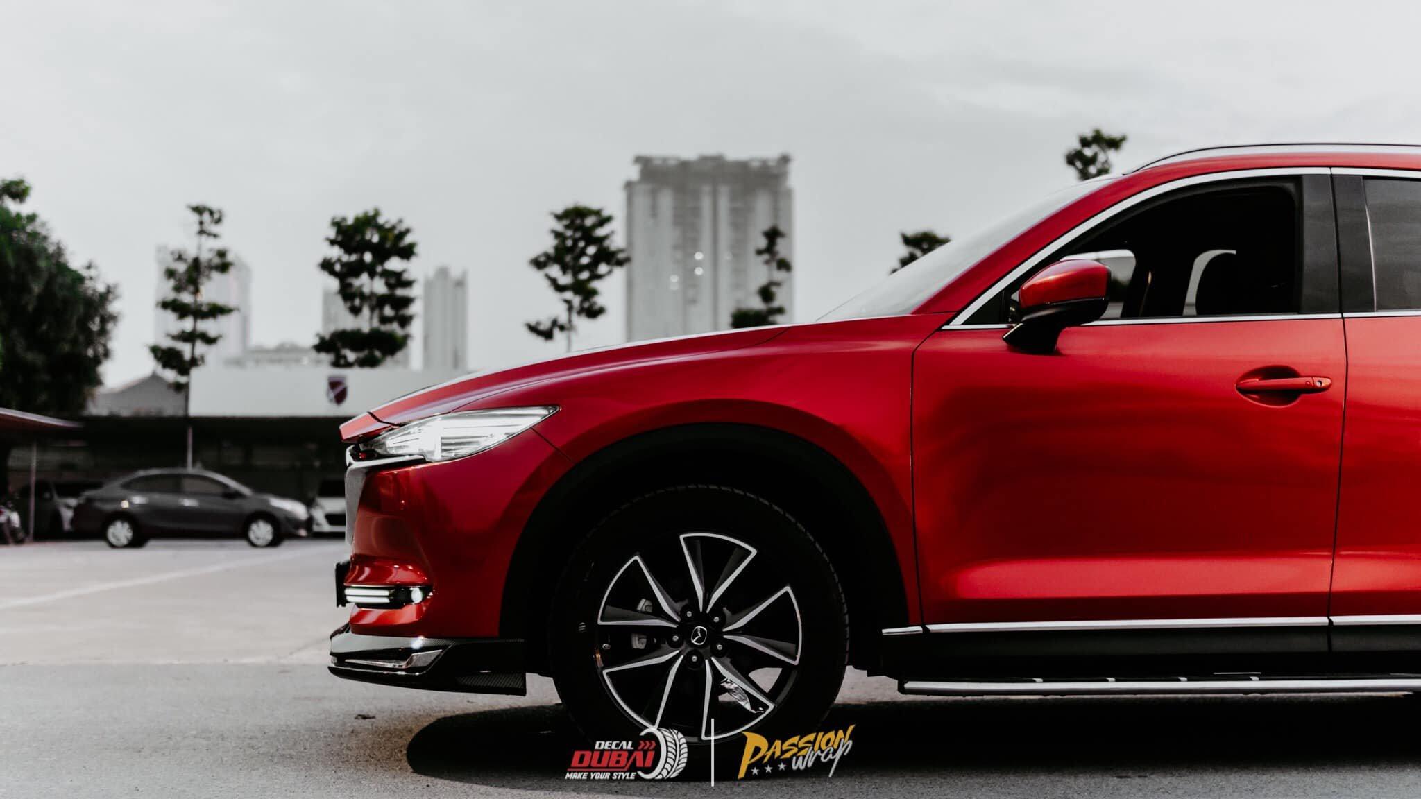 dán đổi màu xe mazda CX 5 Đỏ 2