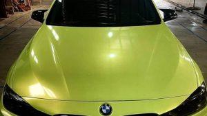 Dán Đổi Màu Xe BMW 520I Vàng Huỳnh Quang