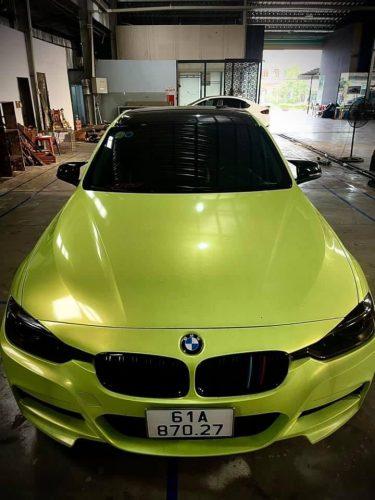 Đổi Màu Xe BMW 520I Vàng Huỳnh Quang