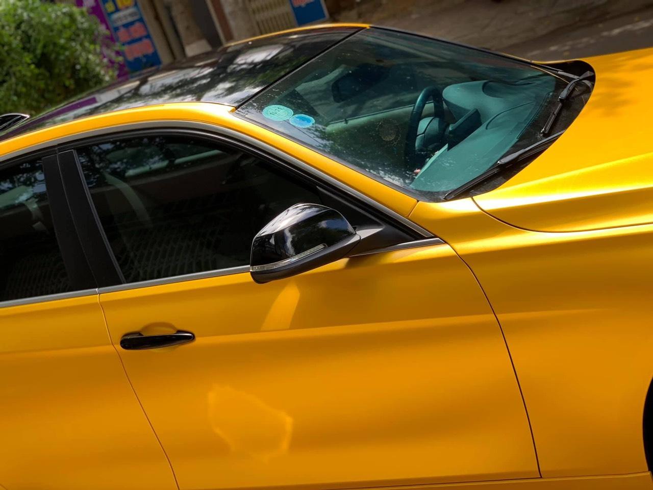 Dán Đổi Màu Xe BMW 320I Vàng