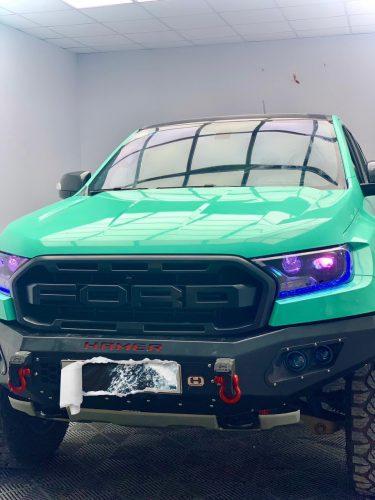 Dán Đổi Màu Xe Ford Ranger Raptor Xanh Ngọc