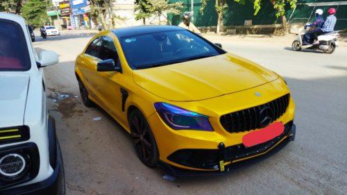 Đổi Màu Xe Mercedes CLA Vàng