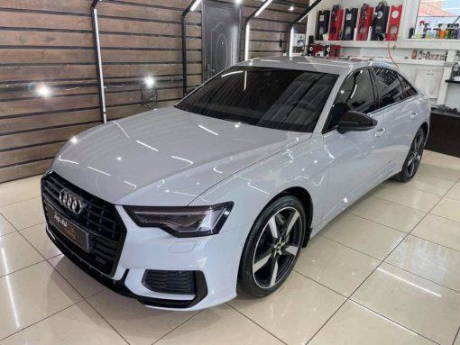 Dán Đổi Màu Xe Audi A6 Trắng Sữa