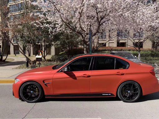 Dán Đổi Màu Xe BMW M3 Đỏ Cam