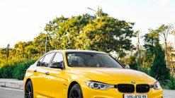 Dán Đổi Màu Xe BMW Vàng