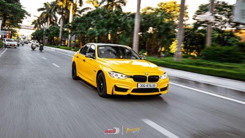 Đổi Màu Xe BMW Vàng