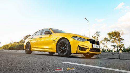 Wrap Đổi Màu Xe BMW Vàng