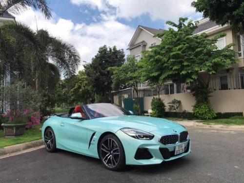 Đổi Màu Xe BMW Z4 Xanh Ngọc