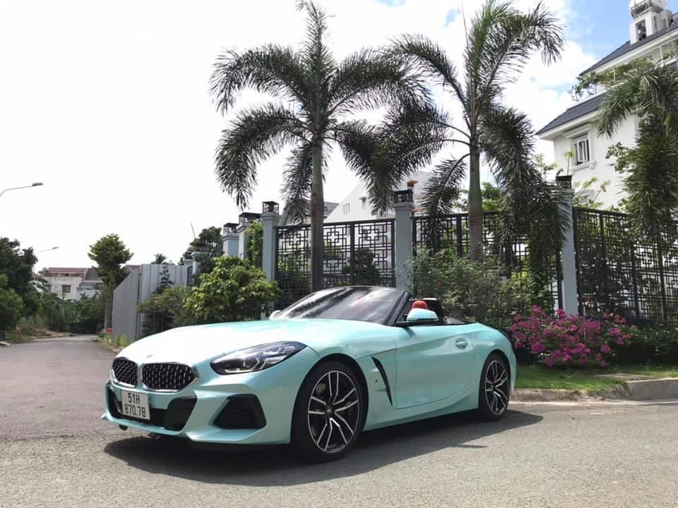 Dán Đổi Màu Xe BMW Z4 Xanh Ngọc