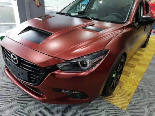 Dán Đổi Màu Xe Mazda 3 Đỏ Đồng