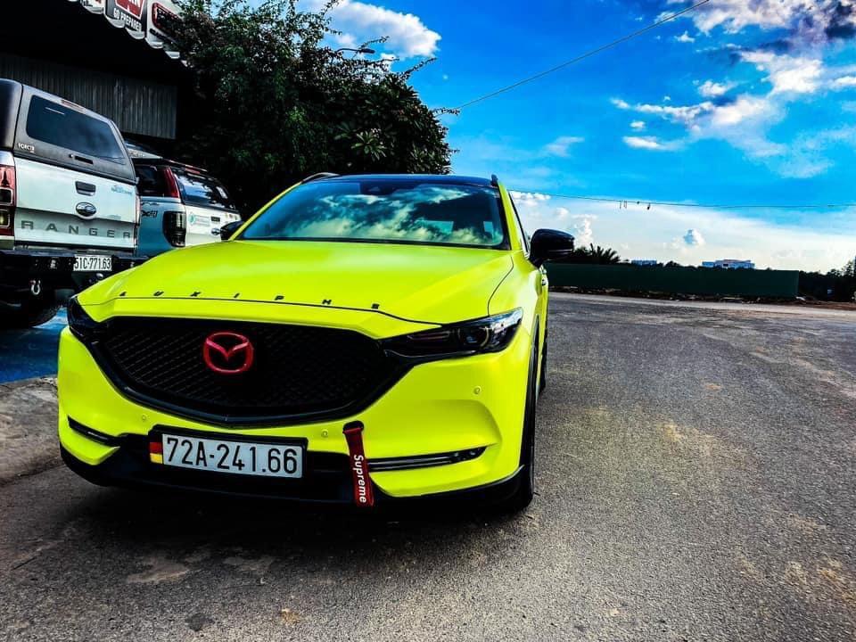 Dán Đổi Màu Xe Mazda CX 5 Vàng Chanh
