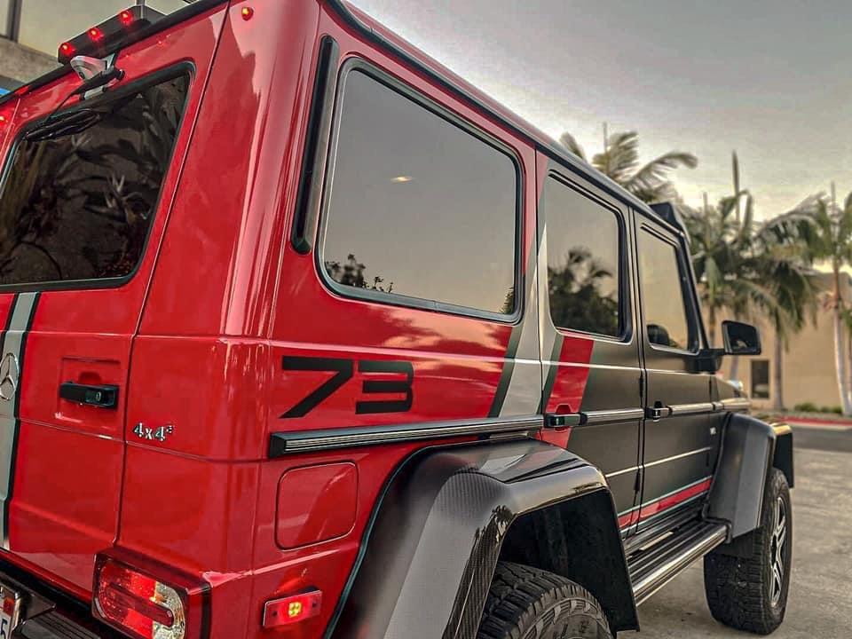 Dán Đổi Màu Xe Mercedes G63 Style Đỏ Đen