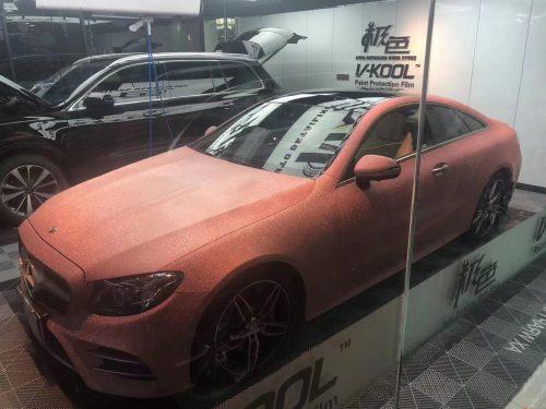 Đổi Màu Xe Mercedes Hồng Cam Ánh Nhũ