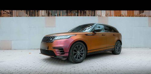 Dán Đổi Màu Xe Range Rover Nâu