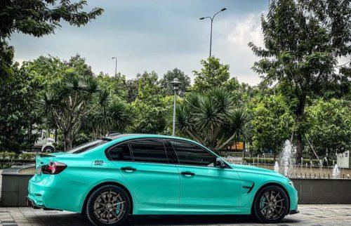 Dán Đổi Màu BMW 320i Xanh Ngọc