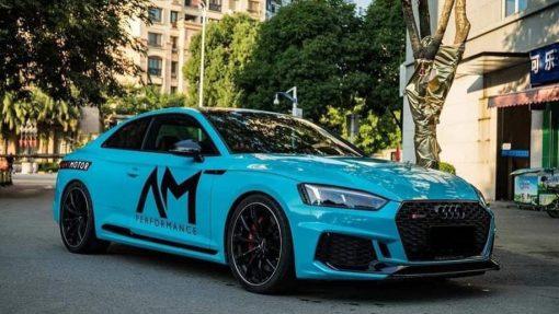 Dán Đổi Màu Xe Audi RS5 Blue Sky