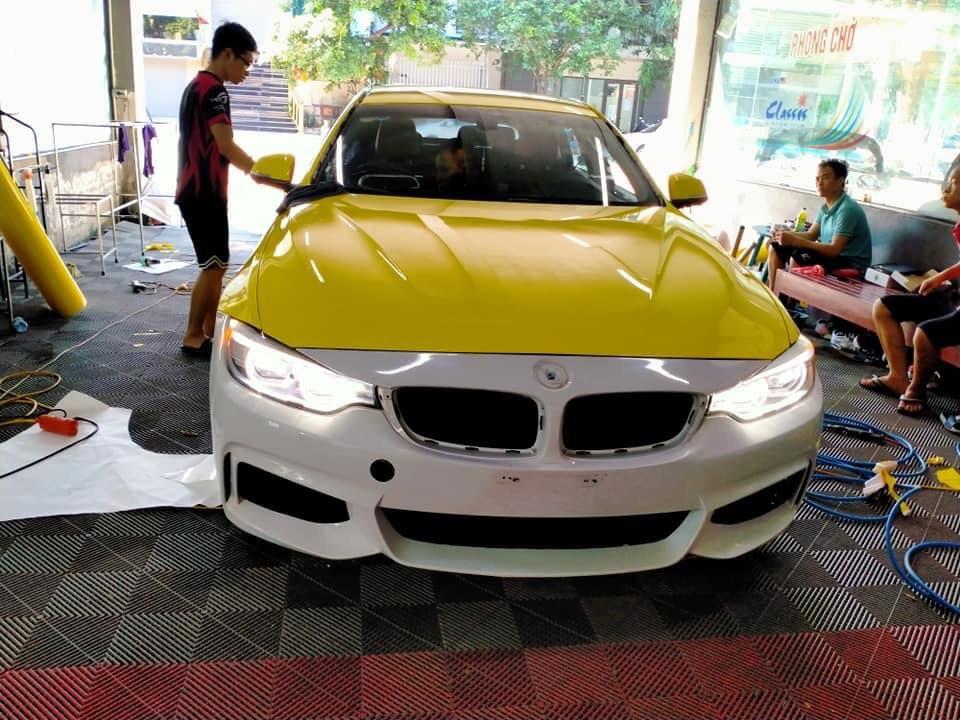 Dán Đổi Màu Xe BMW 430i Vàng