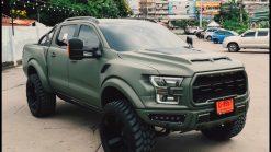 Dán Đổi Màu Xe Ford Ranger Xanh Lì Quân Đội
