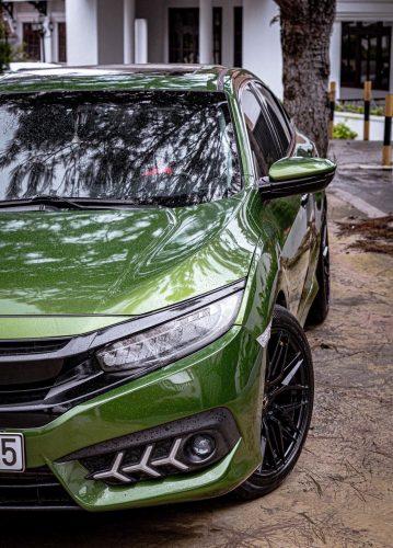 Dán Đổi Màu Xe Honda CivicXanh Lá Bóng