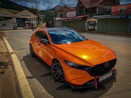 Dán Đổi Màu Xe Mazda 3 Cam