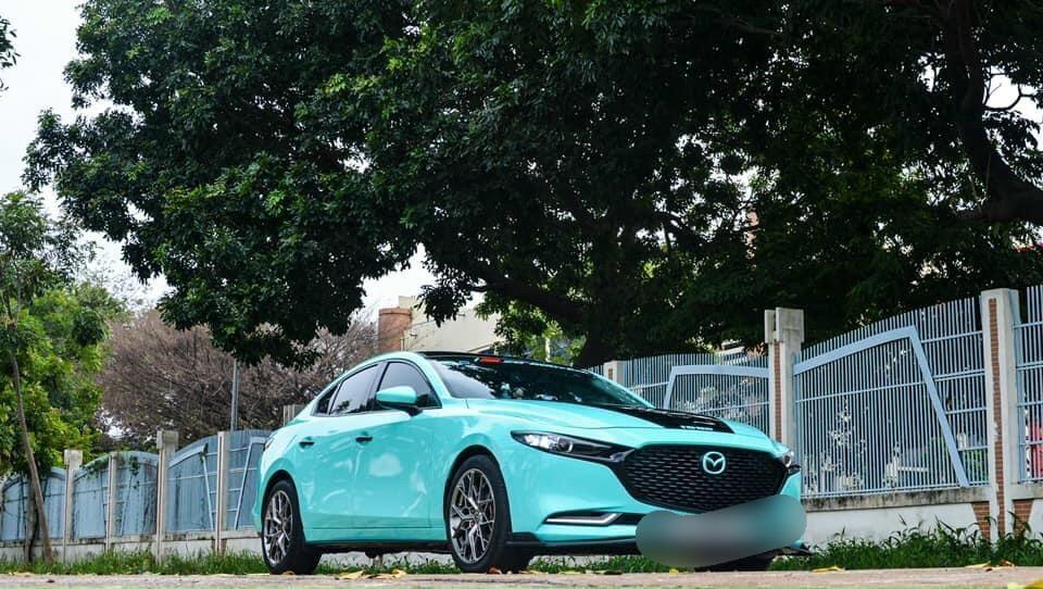 Dán Đổi Màu Xe Mazda 3 Xanh Ngọc