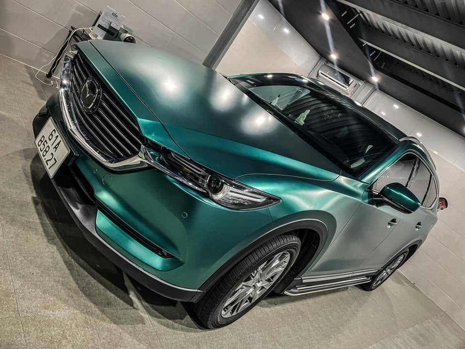 Dán Đổi Màu Xe Mazda CX 8 Xanh Ngọc Bích