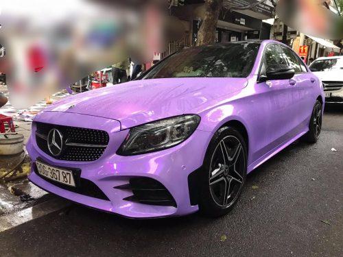 Dán Đổi Màu Xe Mercedes C300 Tím