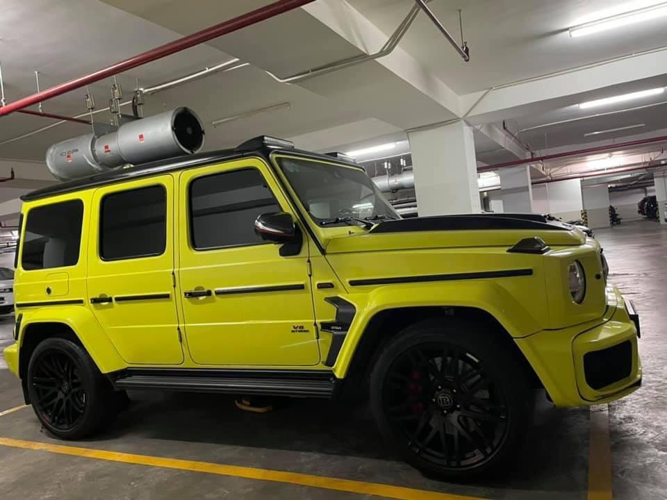 Dán Đổi Màu Xe Mercedes G63 Vàng Chanh