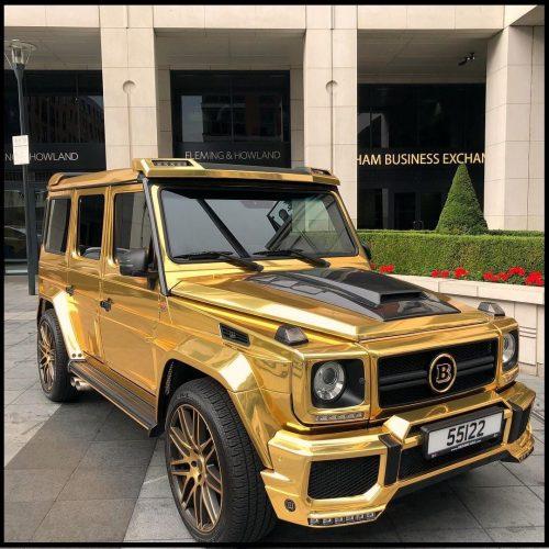 Dán Đổi Màu Xe Mercedes G63 Vàng Gương Siêu Chất