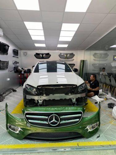 Dán Đổi Màu Xe Mercedes Xanh Diệp Lục