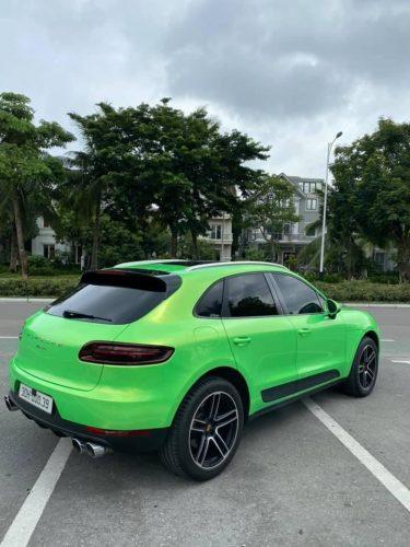 Dán Đổi Màu Xe Porsche Xanh Ánh Vàng