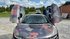 Dán Đổi Màu Xe BMW i8 Style Quân Đội