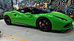 Dán Đổi Màu Xe Ferrari 488 Spider Xanh Lục