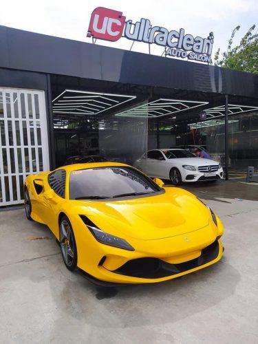 Dán Đổi Màu Xe Ferrari F8 Spider Vàng