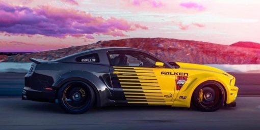 Dán Đổi Màu Xe Ford Mustang GT Vàng Đen