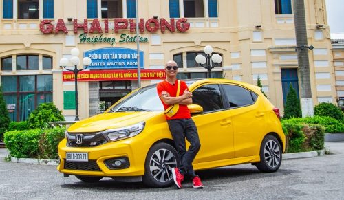 Dán Đổi Màu Xe Honda Brio Vàng