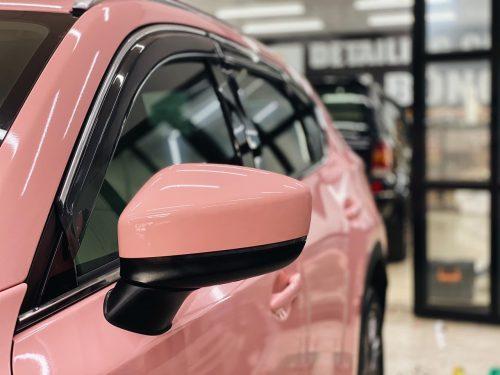 Dán Đổi Màu Xe Mazda CX5 Hồng Cánh Sen