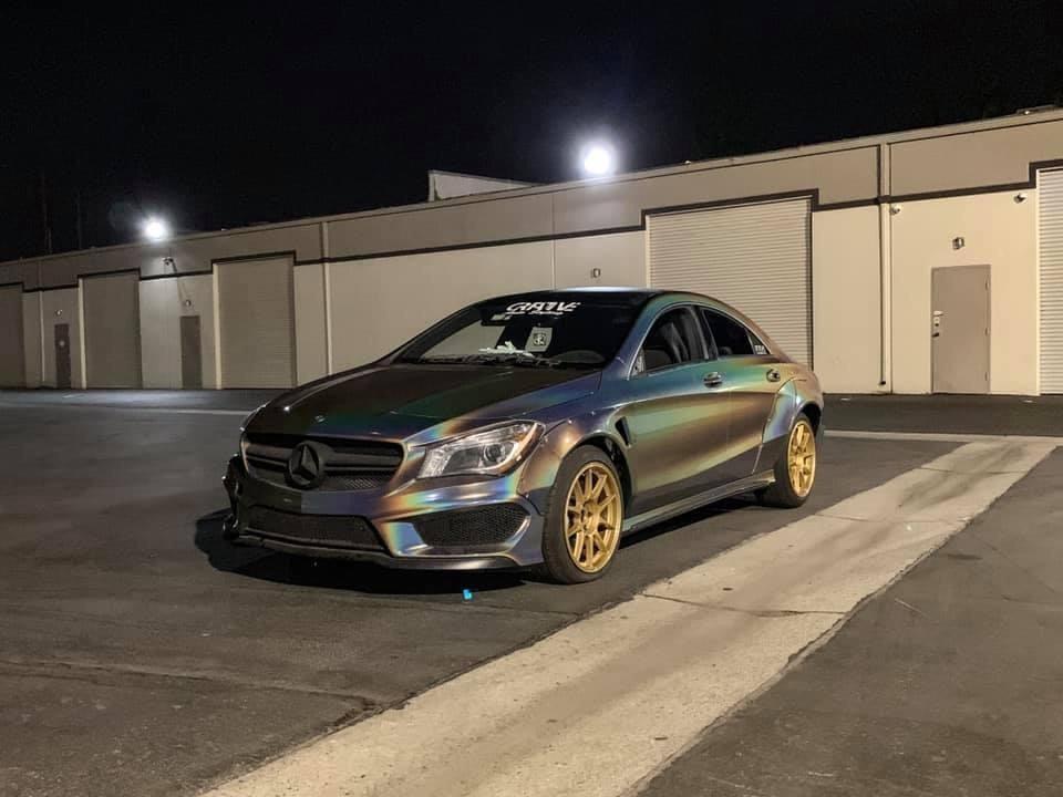 Dán Đổi Màu Xe Mercedes Benz CLA Đen