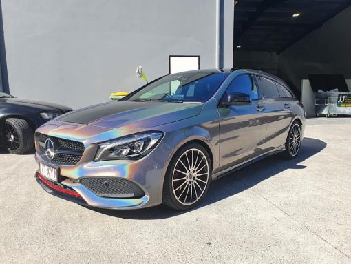 Dán Đổi Màu Xe Mercedes CLA Bạc