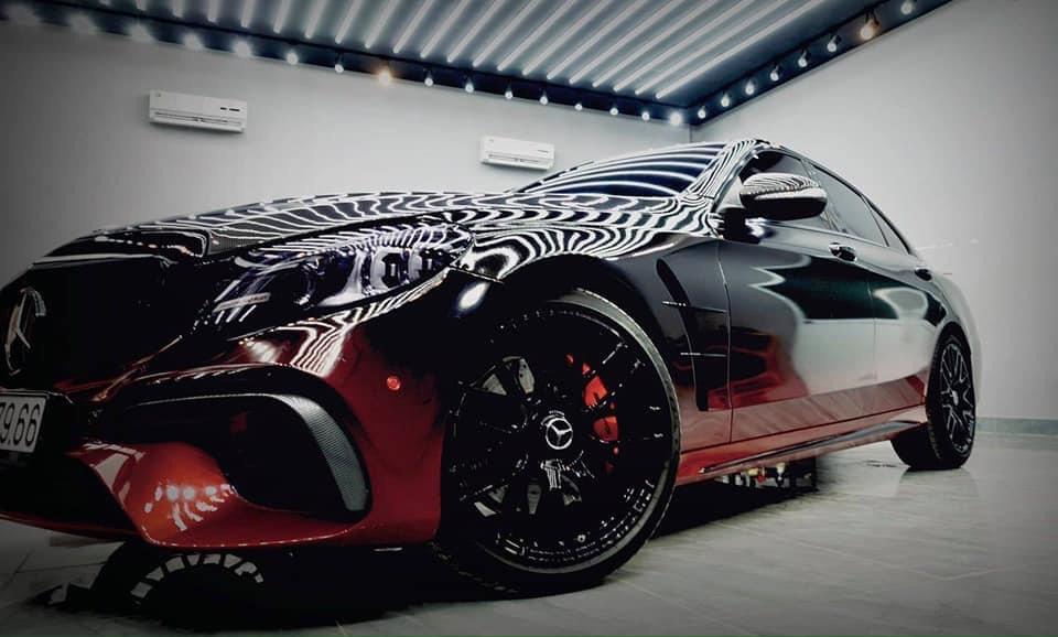 Dán Đổi Màu Xe Mercedes Style Đỏ Đen