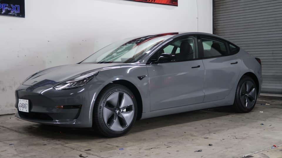 Dán Đổi Màu Xe Tesla Model 3 Xám